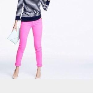J. Crew Jeans - J. Crew hot pink toothpick stretch jeans